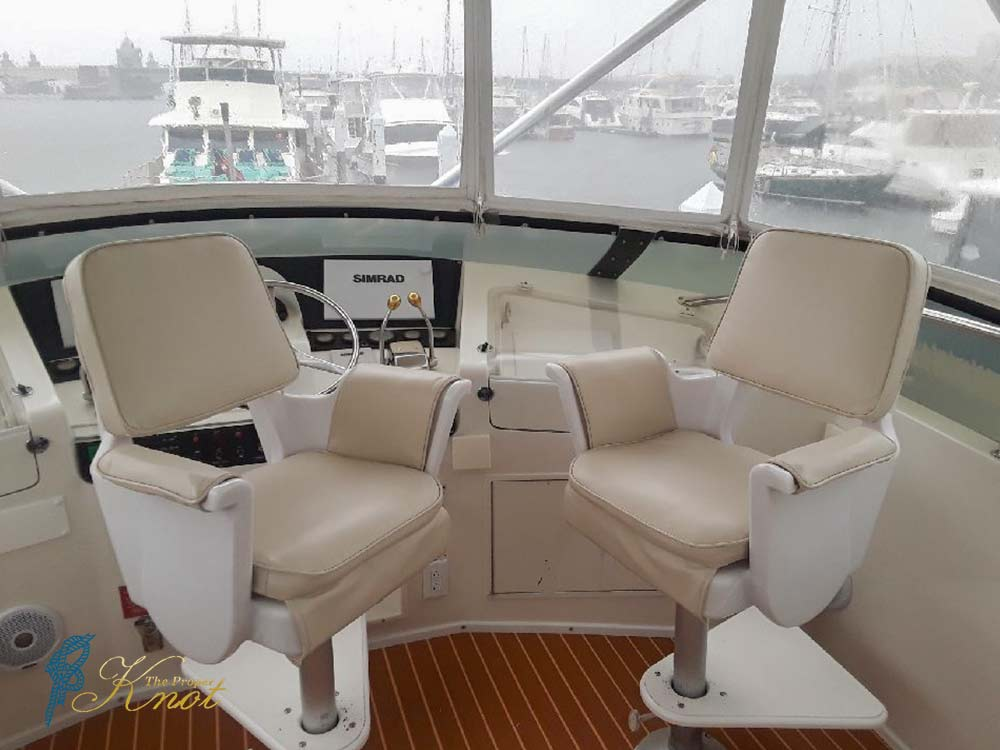 Marine Canvas Flybridge Captains Chair